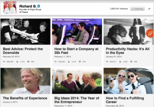 Richard Branson on LinkedIn
