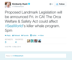 Orca Welfare Act in California