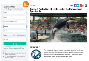 An Online Petition to free Lolita