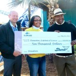John Reilly with Big Check at SeaWorld